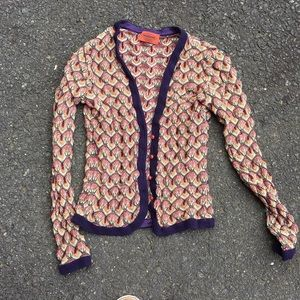 Missoni Rainbow Crochet Button Cardigan Authentic